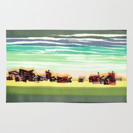 Railroad Town In The West Plains Of Nebraska 32 Rug