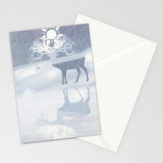 a deer with nine horns is bringing back the sun~ illustration  Stationery Cards