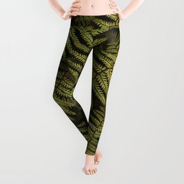 Among the ferns in the forest (military green) Leggings