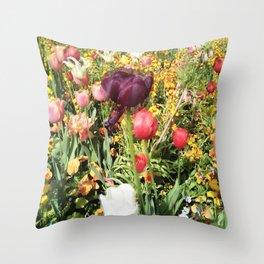 Flower Schadows Throw Pillow