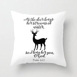 As The Deer Longs Psalm 42:1 Throw Pillow