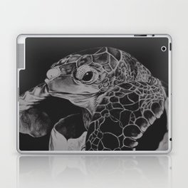 Hatching turtle in black and white Laptop & iPad Skin