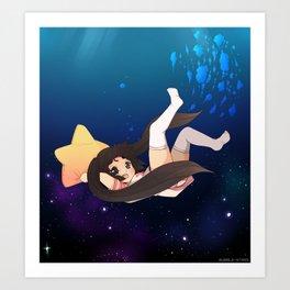 Bubble Stars Art Print