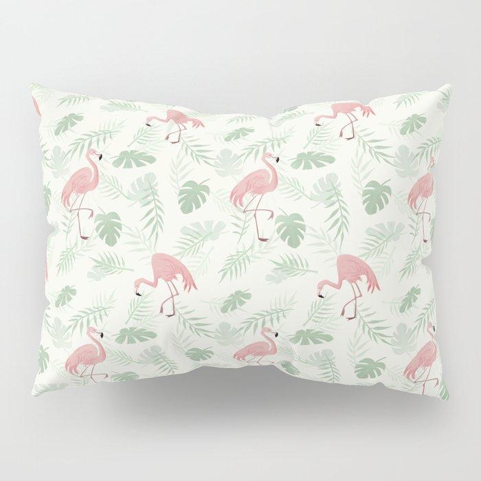 Flamingo Love Tropical Pillow Sham