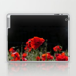 Red Poppies in bright sunlight Laptop & iPad Skin