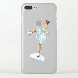 Figure Skating Heel Grab Clear iPhone Case