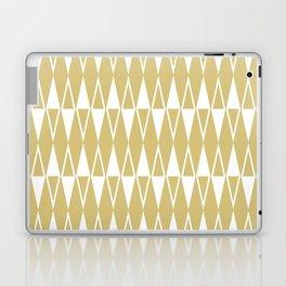 Mid Century Modern Diamond Pattern Gold 234 Laptop & iPad Skin