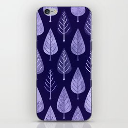 Watercolor Forest Pattern #8 iPhone Skin