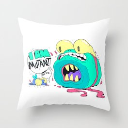 Not a Teenage Mutant Ninja Turtle Throw Pillow