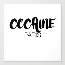 Cocaine Paris - Black  Canvas Print