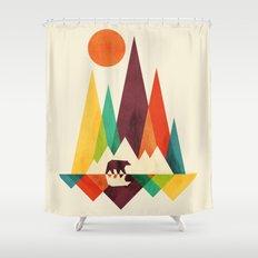 Bear In Whimsical Wild Shower Curtain