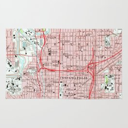 Vintage Map of Indianapolis Indiana (1967) Rug