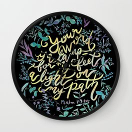 Your Word is a Lamp - Psalm 119:105 Wall Clock