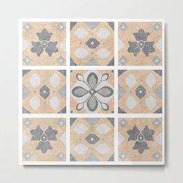 Terracotta Vintage Tiles Design Metal Print