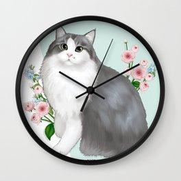 Cat Selly Wall Clock
