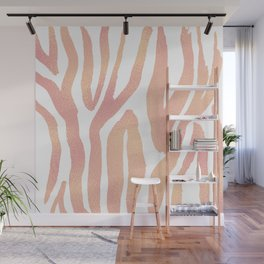 wild thing (pink and gold foil) Wall Mural