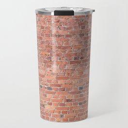 Plain Old Orange Red London Brick Wall Travel Mug