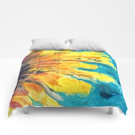 Free Flowing Sunflower Comforters