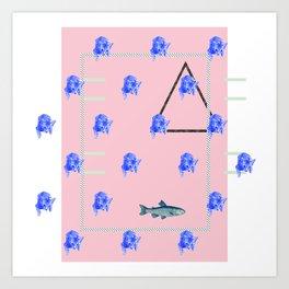 dim yeung fish Art Print