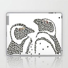 Vanishing Penguins by Black Dwarf Designs Laptop & iPad Skin