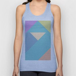 colorful triangular pastel background Unisex Tank Top
