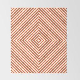 orange diamond Throw Blanket