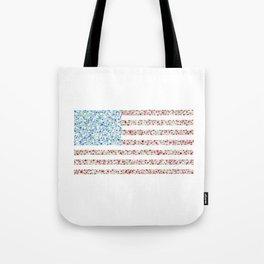 American Flag Floral Watercolor Tote Bag