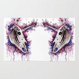 Unicorn skulls Rug