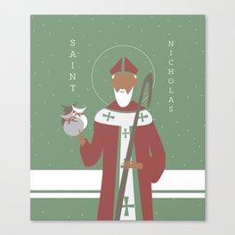 St. Nicholas Icon Canvas Print