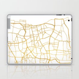 JAKARTA INDONESIA CITY STREET MAP ART Laptop & iPad Skin