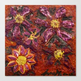 Deap in flowers Canvas Print