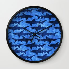 Sharks in the Blue, Blue Sea Wall Clock