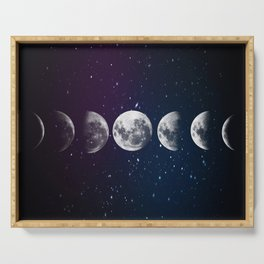 Phases of the Moon Serving Tray