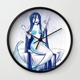 Rainy Day Mermaid Wall Clock