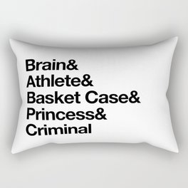 """Breakfast Club Ampersand """"They see us as they want to see us"""" Rectangular Pillow"""