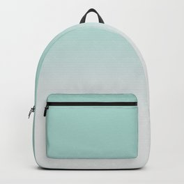 Ombre Duchess Teal and White Smoke Backpack