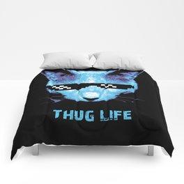 Thug Life (cat) Comforters