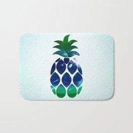 Watercolor pineapple Bath Mat