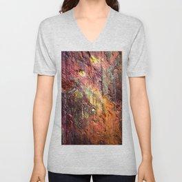 Colorful Nature : Texture Warm Tones Unisex V-Neck
