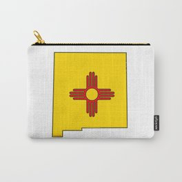 New Mexico Map with State Flag Carry-All Pouch