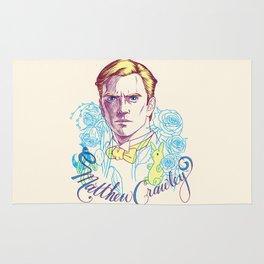 RIP Matthew Crawley, of Downton Abbey.  Rug