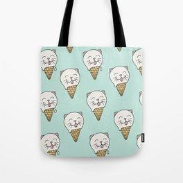 Kitty-Cream Tote Bag