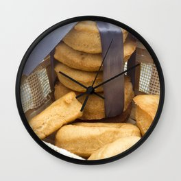 Croissant and Donut composition Wall Clock