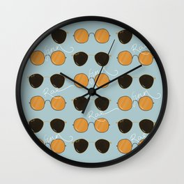 It's all about the sunglasses Wall Clock