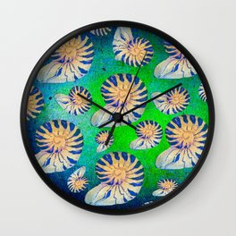 SEA SHELLS PATTERN Wall Clock