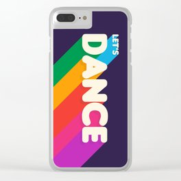 RAINBOW DANCE TYPOGRAPHY Clear iPhone Case