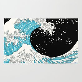 The Great Wave (night version) Rug