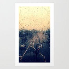 when it pours Art Print