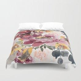 Large floral autumn Duvet Cover