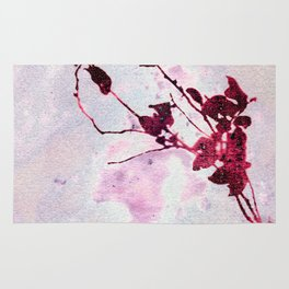 Botanical Traces in Pink Rug